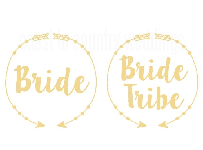 Boho Arrow Bride Tribe Temporary Hens Party Tattoos