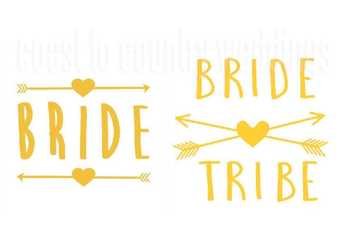 Bride Tribe Arrow Temporary Tattoos Australia