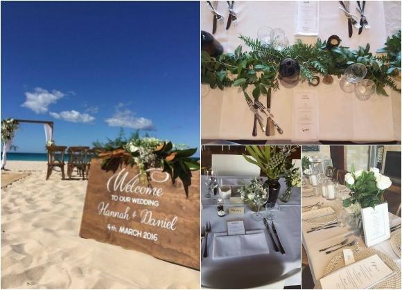 Bunker beach cafe wedding