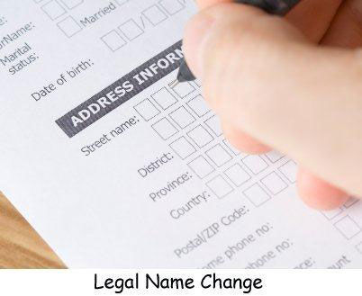 Changing your name on documents after marriage for Documents needed to change my name