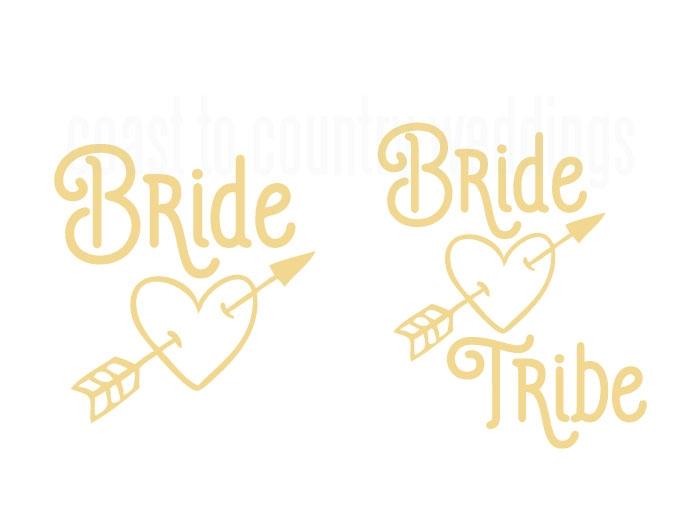 bride tribe arrow design temporary tattoo