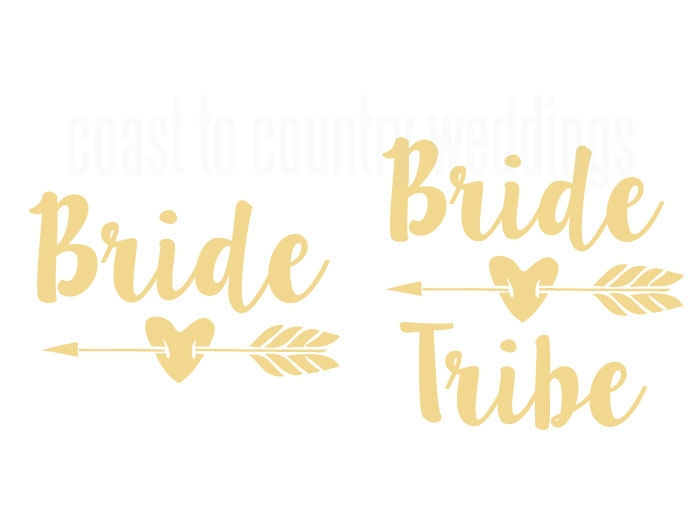 Feathered Arrow Bride Tribe Temporary Tattoo