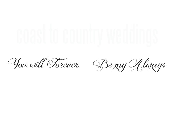 You Will Forever Be My Always Temporary Wedding Day Tattoos