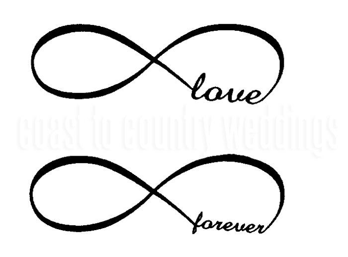 Love Forever Infinity Symbol Temporary Tattoo