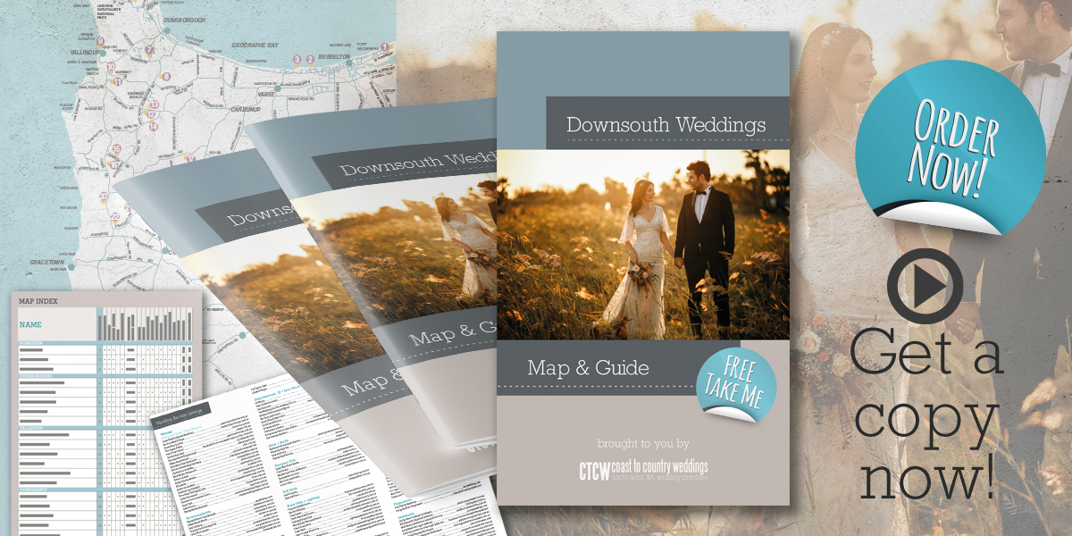 Grab a copy of our Downsouth Weddings Map & Guide