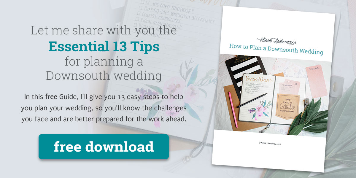 Tap to get a copy of How to Plan a Downsouth Wedding