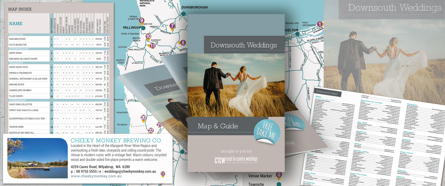 Downsouth Weddings Map & Guide