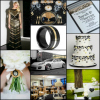 black white gold modern wedding inspiration board 100x100