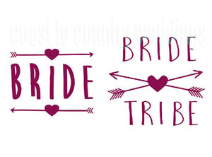 Bride Tribe Heart & Arrows Tattoos Australia