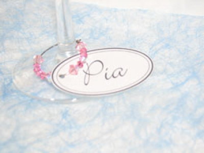 Wedding Place Cards - Wine Charm Bonbonniere & Name Card