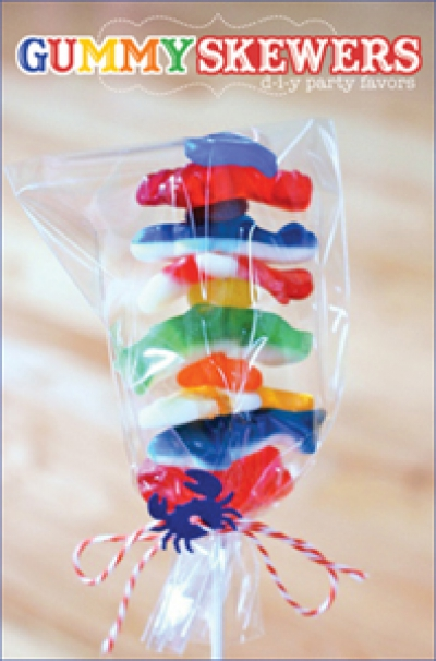 Wedding Favours - Gummy Skewers