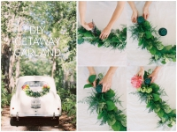 DIY floral garland for your wedding vehicle