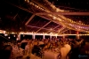 How beautiful a glasshouse marquee looks in the evening