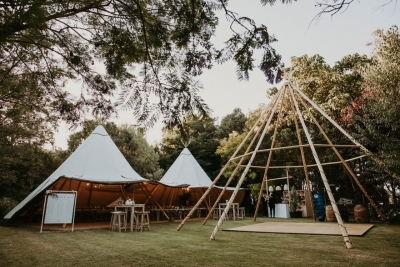 Naked tipi and Tipis